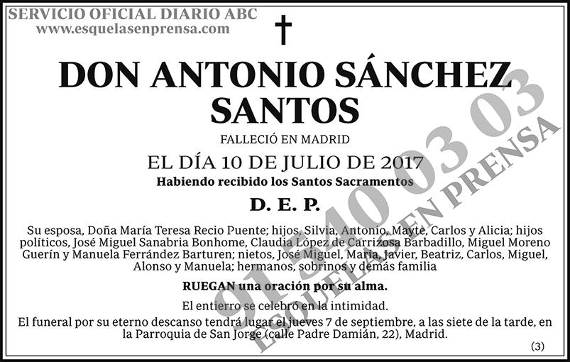 Antonio Sánchez Santos